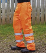 WR015 Warrior Delray Hi-Vis Trousers